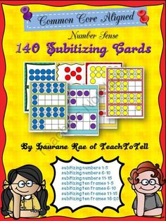 140 NUMBER SENSE SUBITIZING CARDS COMMON CORE ALIGNED from TeachToTell on TeachersNotebook.com -  (70 pages)  - Got ten minutes to go before that last bell and lost for what to do to keep students busy? Well, this pack of 140 Subitizing cards can be a time filler.