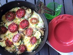 Baked Eggs and Potatoes - RelectantEntertainer.com