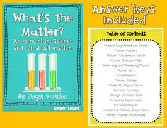 scienc idea, elementary science, matter, chemistry, teachersnotebookcom 38, art, ginger snap, educ, gingers