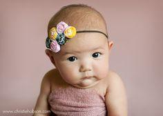 baby fabric flower headband