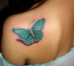 butterflytattoos, butterflies, color, shadow, shoulder tattoos, 3d tattoos, butterfly tattoos, ink, butterfli tattoo
