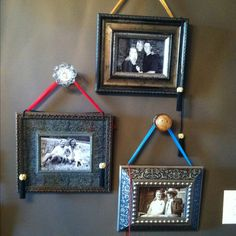 Old door knobs put to good use!!  Love this ~ but would use large ribbon tied in a bow!