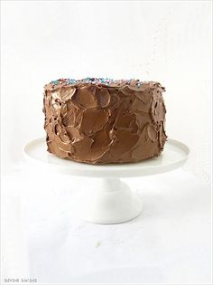 Brown Butter, Vanilla Bean Cake With Whipped Caramel Chocolate Frosting