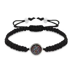 Sparkling Mystic Fire Drusy Macrame Bracelet $38