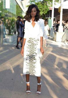 Liya Kebede print skirt, street style, maxi skirts