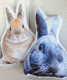 DIY photoprint cushions rabbit, transfer paper, animals, van, printable templates, diy crafts, cushion, pillow pet, diy pillows