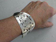Spatula Cuff Bracelet   Upcycled from vintage cake server/spatula www.laughingfrogstudio.etsy.com $22.00