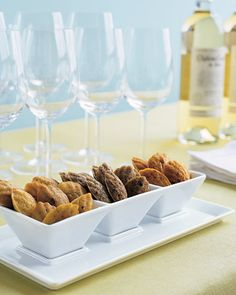 Wedding Cocktail-Hour Recipes:  Trio of Savory Madeleines - Savory madeleines can be flavored with many varieties of herbs, seasonings, and cheeses. Some options are Gruyere cheese, fresh rosemary, and cayenne pepper.