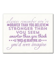 Another great find on #zulily! Orchid 'Always Remember' Print #zulilyfinds