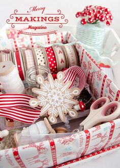 #Christmas #craft supplies in a box