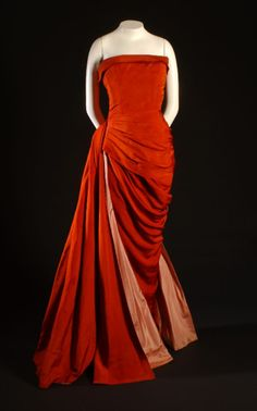 Schiaparelli evening dress ca. 1955    From the Museum at FIT