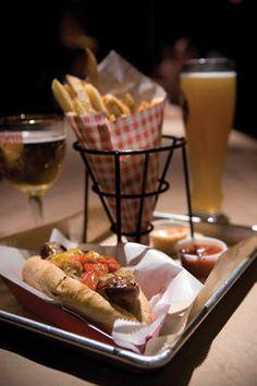los angeles wurstkuche sausages + fries.