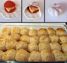 DIY pizza rolls