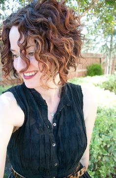 fun curly A-line with a dark ombre look. So cute :)