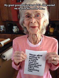 Great Advice, Grandma