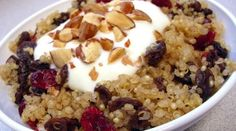 Cranberry-Raisin Quinoa with Yogurt cranberri raisin, yogurt, breakfast, food, healthi, eat, raisin quinoa, recip, cranberries