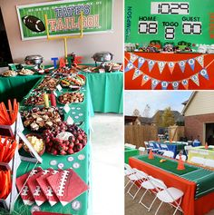 Football Party birthday parties, party stuff, tailgat parti, footbal parti, football parties, parti idea, tailgate parties, baby showers, football birthday