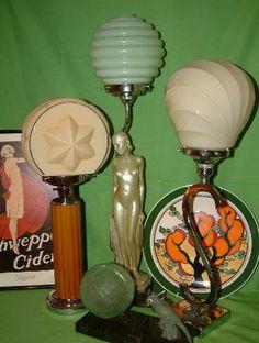 Lamps from Art Deco era