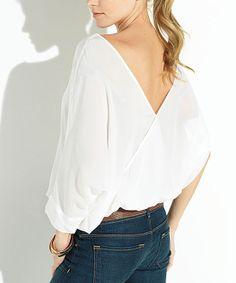 White Silky Top