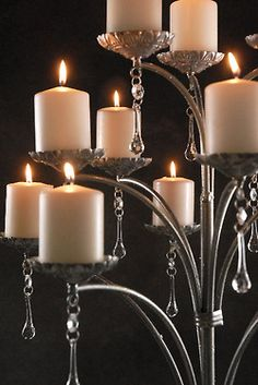 tree, metal, candelabra, candle holders, candles, glass, crystal, candl light, candle arrangements