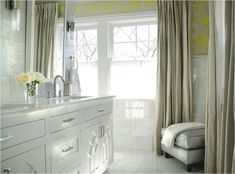 Master Bath with citrus tones - by Caldwell Flake Interiors