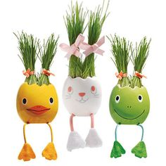 ADORABLE   Nyokki-Egg Plant Pet  #Easter #Eggs: 28 Decorating and Fun Ideas