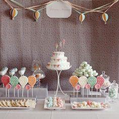 babi idea, hot air balloons, balloon theme, babi shower, baby showers