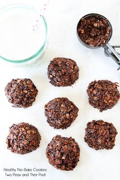 Healthy No-Bake Cookies {Vegan, GF} @Maria Canavello Mrasek Canavello Mrasek (Two Peas and Their Pod)