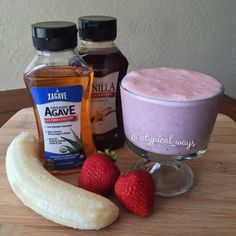 Strawberry  Banana Smoothie - Quick  Simple