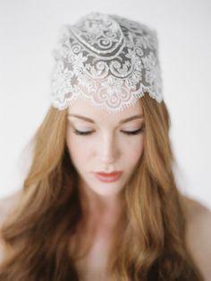 HUNTER lace bridal cap