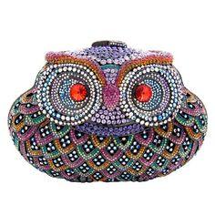 Butler & Wilson Swarovski Crystal Owl Clutch Bag.