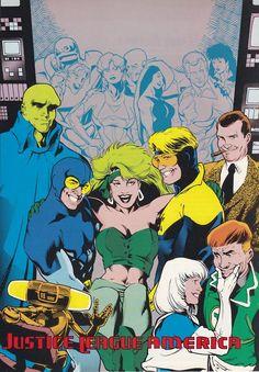 The Justice League International era by Adam Hughes.