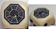LOST Dharma Swan Station dice. Pair $4.00. CatMonkeyGames@aol.com
