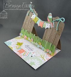 Double Scalloped Tag Topper Punch Easel Card