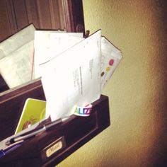#photoadayapril  3. Mail  This is the dumping ground for our mail