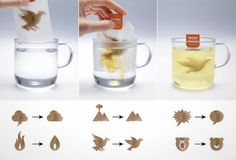 Whoa! How cool are these tea bags?
