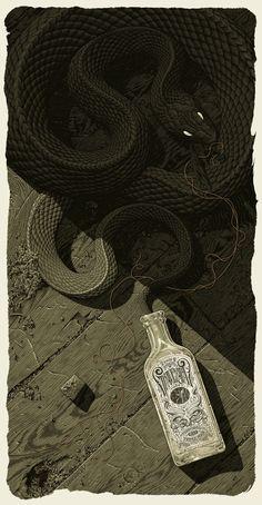 Aaron Horkey's Graveyard Poster.