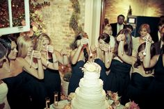 New Orleans wedding tradition of the cake pull :)