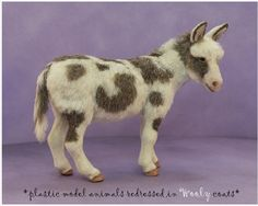 A wonderful tutorial on how customize a plastic toy. models, hors, tutorials, donkey, plastic toy, fur, plastic animals, sheep, resin