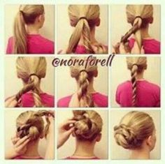 Twisted hair up do