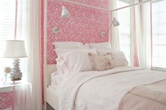 pink and white bedroom | Suellen Gregory Interior Design