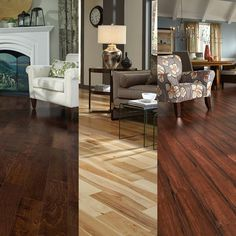 Need some inspiration for your home this season? See all the latest flooring styles & trends in your FREE fall catalog!  [Chocolate Birch, Matte Hickory & Teng Strand]