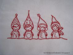Christmas embroidery patterns by the talented Annie Oakleaves