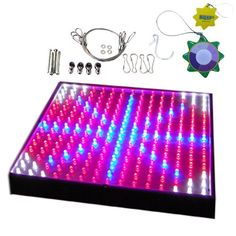 HQRP New High-Power QUAD Indoor Garden LED Light Panel for Growths Stimulate Blue + Red + Orange + White 460 / 630 / 610 nm 225 LED 13.8W 12V + UV Tester Promo - http://mydailypromo.com/hqrp-new-high-power-quad-indoor-garden-led-light-panel-for-growths-stimulate-blue-red-orange-white-460-630-610-nm-225-led-13-8w-12v-uv-tester-promo.html