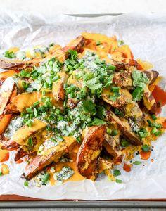 Crispy Buffalo Oven Fries   howsweeteats.com appet, crispi buffalo, food, eat, recip, snack, ovens, oven fri, buffalo oven