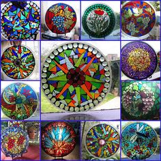 mosaic plates by Poppins Mosaics and Crafts, via Flickr