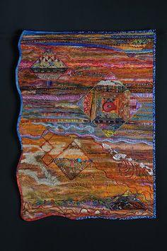 Marvete's first art quilt-Montana