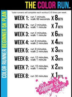 5k running for beginners #colorrun