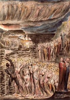 Illustration to Dante's Divine Comedy - Hell by English artist William Blake (1757-1827). This illustration was inspired by Dante's major work Divina Commedia (1308-21).