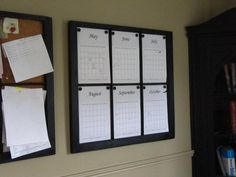 Window frame wall calendars.